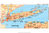 Michelin Official Long Island Map Poster Prints