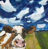 Happy Cow Art by Melissa Lyons