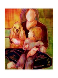 Dog, Woman and Child Photographic Print by Blenda Tyvoll