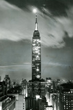 New York City Empire State Building at Night Poster Photo
