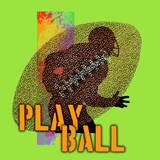 Play Ball - Football (Green) Art by Jim Baldwin