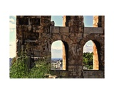 Aegean Sea through the Eyes of Athens Ancient Ruin Photographic Print by Diane Strain