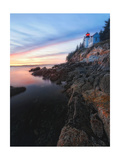Lighthouse on the Cliff, Bass Harbor, Maine Photographic Print by George Oze