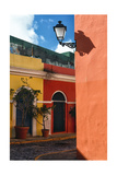 Street Corner, Old San Juan, Puerto Rico Photographic Print by George Oze