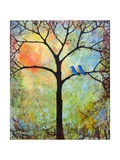 Tree Print Art Birds Sunshine Bluebirds Photographic Print by Blenda Tyvoll