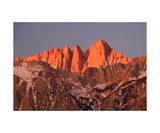 Sunrise Alpenglow On Mount Whitney Photographic Print by Ronald A Dahlquist