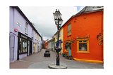 Colorful Street, Kinsale, Ireland Photographic Print by George Oze