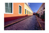 Cobblestone Reflections in Old San Juan Photographic Print by George Oze