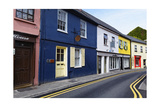 Quaint Narrow Street in Kinsale Photographic Print by George Oze
