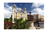 Cathedral of Mayaguez, Puerto Rico Photographic Print by George Oze