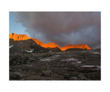 Sunset Alpenglow On Kaweah Peaks Ridge Photographic Print by Ronald A Dahlquist