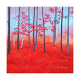 Red Forest Morning Photographic Print by Herb Dickinson