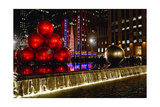 Radio City Music Hall Holiday Scenic, New York Photographic Print by George Oze