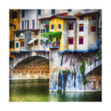 Small Balcony on Ponte Vecchio, Florence, Italy Photographic Print by George Oze