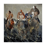 Horse Race 4110 Photographic Print by  Ledent