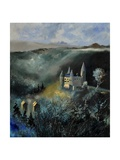 Medieval Castle In Veves Photographic Print by  Ledent