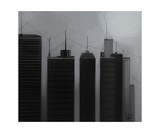 Talking Towers Charcoal Photographic Print by Diane Strain