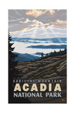 Cadillac Mounta Acadia National Park PAL 1656 Photographic Print by Paul A Lanquist