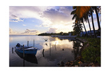 Tranguil Sunset in a Fishing Village Photographic Print by George Oze