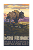 Mount Rushmore Bison pal 1994 Photographic Print by Paul A Lanquist