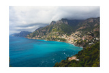 Amalfi Coast Scenic Vista at Positano, Italy Photographic Print by George Oze