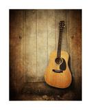 Art Print Vintage Guitar Fotoprint van Annmarie Young