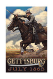 Calvary Charge Gettysburg Pal 982 Photographic Print by Paul A Lanquist