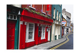 Pubs Lined Street, Kinsale, Ireland Photographic Print by George Oze