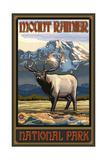 Mount Rainier National Park WYE Elk Posters by Paul A Lanquist