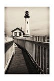 Fenced Path to the Lighthouse, Pigeon Point, CA Photographic Print by George Oze