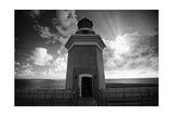 Lighthouse with Dramatic Sky Photographic Print by George Oze