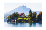 Little Chalet on Lake Luzern, Switzerland Photographic Print by George Oze