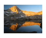 Sawtooth Peak Reflected In Columbine Lake Photographic Print by Ronald A Dahlquist