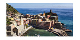Vernazza Harbor from Above, Cinque Terre, Italy Photographic Print by George Oze