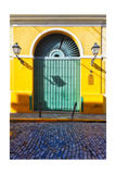 Door and Cobblestone, Old San Juan, Puerto Rico Photographic Print by George Oze