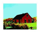Red Barn Number 5 Photographic Print by Diane Strain