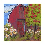 Red Barn Photographic Print by Blenda Tyvoll