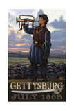 Gettysburg Bugler PAL 965 Photographic Print by Paul A Lanquist