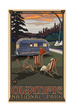 Olympic National Park AIR Airstream Trailer Photographic Print by Paul A Lanquist