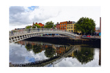 Halfpenny Bridge Over the Liffy River Photographic Print by George Oze