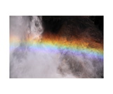 Rainbow In Spray Below Upper Yosemite Fall Photographic Print by Ronald A Dahlquist