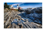 Pemaquid Pont Lighthouse, Maine Photographic Print by George Oze
