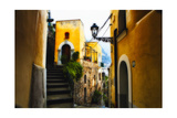 Positano Street Scenic, Campania, Italy Photographic Print by George Oze