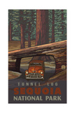Tunnel Log- Sequoia National Park Pal 1233 Photographic Print by Paul A Lanquist
