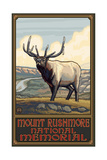 Mount Rushmore Elk Pal 1995 Photographic Print by Paul A Lanquist