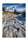 Lighthouse Reflection, Pemaquid Point, Maine Photographic Print by George Oze