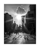 New York City Street Scene BW Photograph Photographic Print by Annmarie Young
