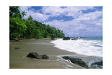Jungle at the Shore, Costa Rica Photographic Print by George Oze