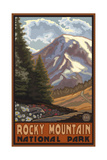Rocky Mountain National Park Springtime Mountains Photographic Print by Paul A Lanquist