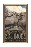 Mount Rushmore National Memorial Photographic Print by Paul A Lanquist